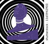 cosmos woman universe stars... | Shutterstock .eps vector #1165942903