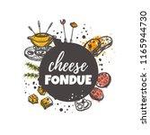 cheese fondue concept design.... | Shutterstock .eps vector #1165944730