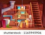 vector cellar interior  storage ... | Shutterstock .eps vector #1165945906