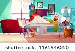 vector hospital concept. arabic ... | Shutterstock .eps vector #1165946050