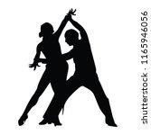 elegant latino dancers couple... | Shutterstock .eps vector #1165946056