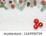 high angle christmas decoration ... | Shutterstock . vector #1165950739