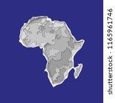 sketch african continent banner.... | Shutterstock .eps vector #1165961746
