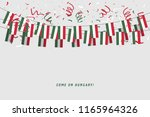 hungary garland flag with... | Shutterstock .eps vector #1165964326