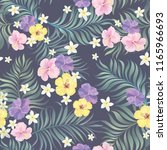 tropical seamless pattern with... | Shutterstock .eps vector #1165966693