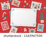 festive christmas border  frame ... | Shutterstock .eps vector #1165967530