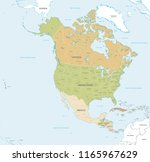 vector map of north and central ... | Shutterstock .eps vector #1165967629