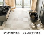 top view of oncrete and wood... | Shutterstock . vector #1165969456