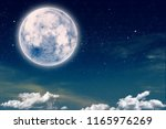 skyscape with starry night and... | Shutterstock . vector #1165976269