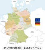 vector map of germany with... | Shutterstock .eps vector #1165977433