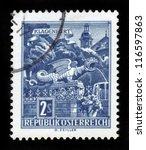 austria   circa 1968  a stamp... | Shutterstock . vector #116597863
