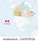 vector map of canada with... | Shutterstock .eps vector #1165978726