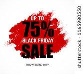 black friday sale inscription... | Shutterstock .eps vector #1165980550