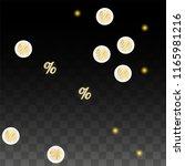 luxury vector gold percentage... | Shutterstock .eps vector #1165981216