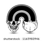 arch skull. vector colorful... | Shutterstock .eps vector #1165983946