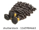 loose deep curly black human... | Shutterstock . vector #1165984663