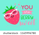 you are berry sweet ... | Shutterstock .eps vector #1165996780