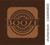 booze vintage wooden emblem | Shutterstock .eps vector #1166006833