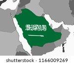 saudi arabia on gray political... | Shutterstock . vector #1166009269
