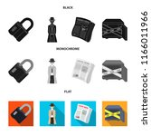 coded lock  the appearance of... | Shutterstock .eps vector #1166011966