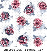 traditional flower pattern on... | Shutterstock .eps vector #1166014729