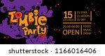 zombie party poster design.... | Shutterstock .eps vector #1166016406
