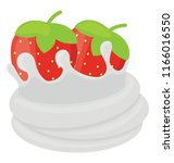 strawberry tart with the... | Shutterstock .eps vector #1166016550