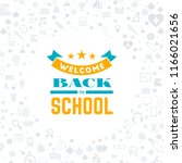 back to school. typographic... | Shutterstock .eps vector #1166021656