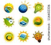 set of solar technology vector... | Shutterstock .eps vector #116602336