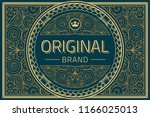 vintage decorative ornate label ... | Shutterstock .eps vector #1166025013
