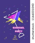 cocktail party banner template... | Shutterstock .eps vector #1166031040
