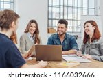 group of happy successful... | Shutterstock . vector #1166032666