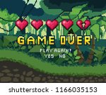 game over pixel art design with ...