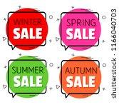 winter sale. spring sale.... | Shutterstock .eps vector #1166040703