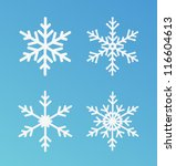 vector snowflakes set for... | Shutterstock .eps vector #116604613