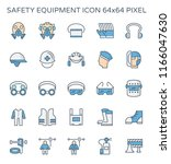 safety equipment icon or... | Shutterstock .eps vector #1166047630