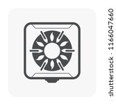 gas stove icon  black color. | Shutterstock .eps vector #1166047660