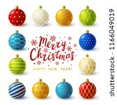 christmas greeting card with... | Shutterstock .eps vector #1166049019