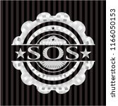 sos silver badge or emblem | Shutterstock .eps vector #1166050153