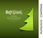 merry christmas ribbon paper... | Shutterstock .eps vector #116605666