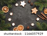 christmas or new year 2019... | Shutterstock . vector #1166057929