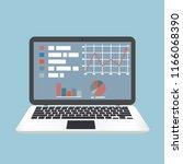 e learning  laptop concept | Shutterstock .eps vector #1166068390