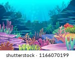 under sea view | Shutterstock .eps vector #1166070199