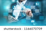 human resources hr management... | Shutterstock . vector #1166070709
