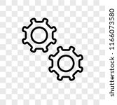 settings vector icon isolated... | Shutterstock .eps vector #1166073580
