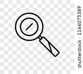 zoom in vector icon isolated on ...   Shutterstock .eps vector #1166075389