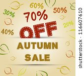 autumn sale concept. autumn... | Shutterstock .eps vector #116607610