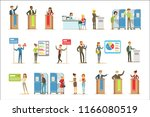 political candidates and voting ... | Shutterstock .eps vector #1166080519