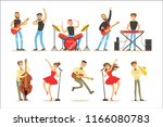 artists playing music... | Shutterstock .eps vector #1166080783
