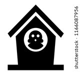 birdhouse isolated icon on... | Shutterstock .eps vector #1166087956